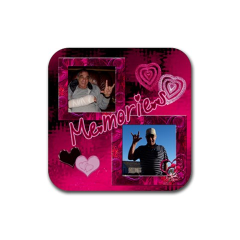 Hang Loose Coaster By Ellan   Rubber Coaster (square)   43qis9kd0tgm   Www Artscow Com Front