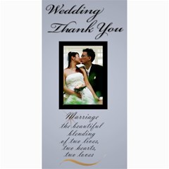 Wedding Thank You 4x8 Card By Deborah   4  X 8  Photo Cards   G010famws04v   Www Artscow Com 8 x4 Photo Card - 1