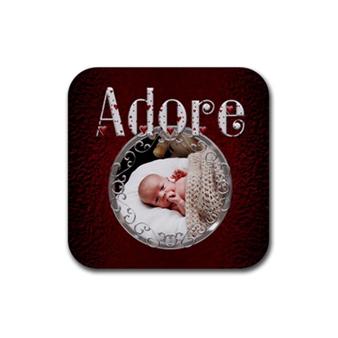 Adore Square Coaster By Lil    Rubber Coaster (square)   Vr823ynh211t   Www Artscow Com Front