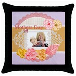 Mothersday - Throw Pillow Case (Black)