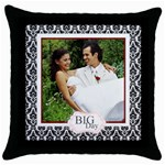 big day - Throw Pillow Case (Black)