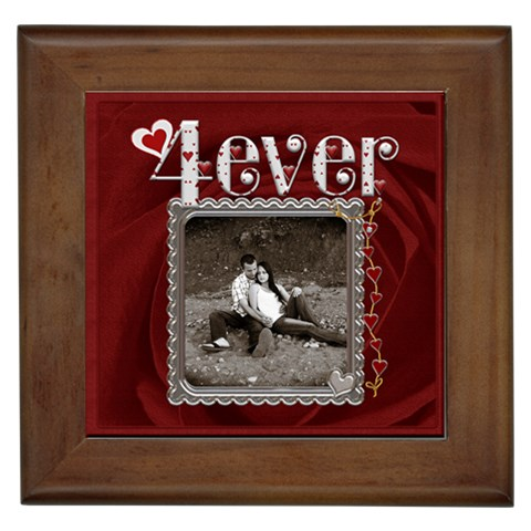 4 Ever Framed Tile By Lil    Framed Tile   3zkrvdyf5yys   Www Artscow Com Front