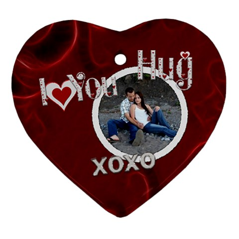 I Love You Heart Ornament By Lil    Ornament (heart)   Vkvpb6edu8ab   Www Artscow Com Front