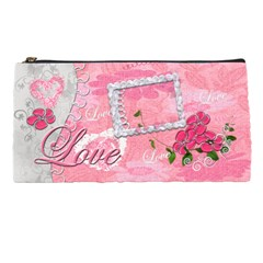 Spring Flower Floral Love Pink Pencil Case By Ellan   Pencil Case   5rrd8kehvuxe   Www Artscow Com Front
