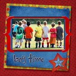 BOY TIME - ScrapBook Page 12  x 12