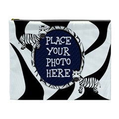 Zebra Cometic Bag Extra Large By Chere s Creations   Cosmetic Bag (xl)   Esz5qpu29bcj   Www Artscow Com Front