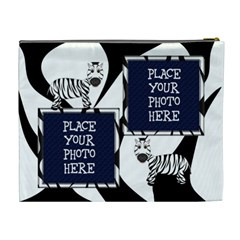 Zebra Cometic Bag Extra Large By Chere s Creations   Cosmetic Bag (xl)   Esz5qpu29bcj   Www Artscow Com Back
