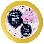 Pink Hippo Clock - Color Wall Clock