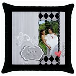 Our wedding - Throw Pillow Case (Black)
