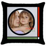 Happy easter - Throw Pillow Case (Black)