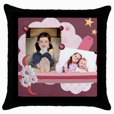 Kids By Wood Johnson   Throw Pillow Case (black)   35ni21x0xqvs   Www Artscow Com Front