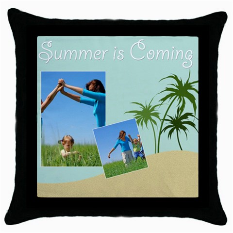 Summer Is Coming By Wood Johnson   Throw Pillow Case (black)   X7v2z3wb1btq   Www Artscow Com Front