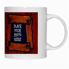 Wooden White Mug by Chere s Creations Right