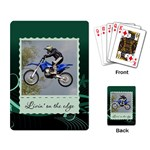 Livin  on the Edge Playing Cards - Playing Cards Single Design