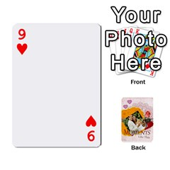 Moments By Joely   Playing Cards 54 Designs   5wgvjmfaoruf   Www Artscow Com Front - Heart9