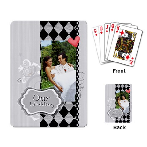 Our Wedding By Joely   Playing Cards Single Design   Ha4npyxjf9vu   Www Artscow Com Back