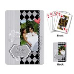 our wedding - Playing Cards Single Design