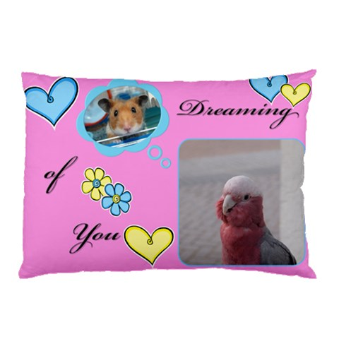 Pet Pillow By Irene Ng   Pillow Case   Sgoqmtnqz21k   Www Artscow Com 26.62 x18.9 Pillow Case