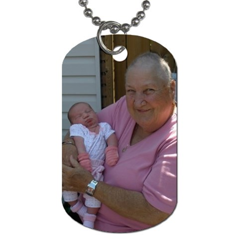 Grandma By Kelly   Dog Tag (one Side)   Xtnx5xr5mrwb   Www Artscow Com Front