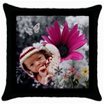 Spring Flower Throw Pillow Case - Throw Pillow Case (Black)