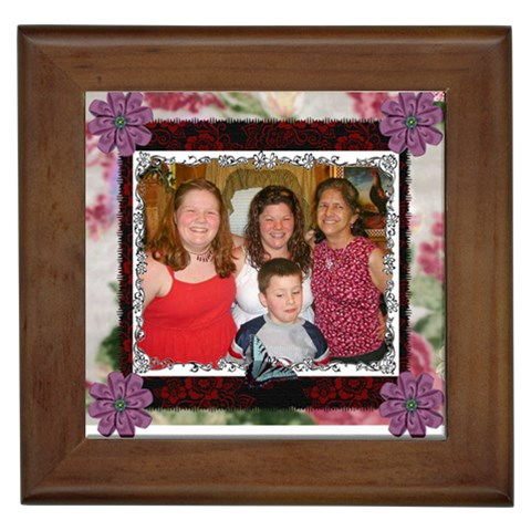 Family Picture By Kim Blair   Framed Tile   883l4xqlr7nv   Www Artscow Com Front