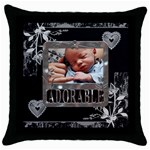 Adorable Throw Pillow Case - Throw Pillow Case (Black)