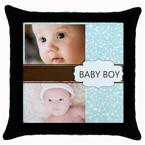 Baby Boy By Joely   Throw Pillow Case (black)   Rmygwuq12ifj   Www Artscow Com Front