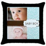 baby boy - Throw Pillow Case (Black)