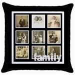 Multi Frame Family  Throw Pillow - Throw Pillow Case (Black)