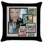 2011 memory Throw Pillow - Throw Pillow Case (Black)