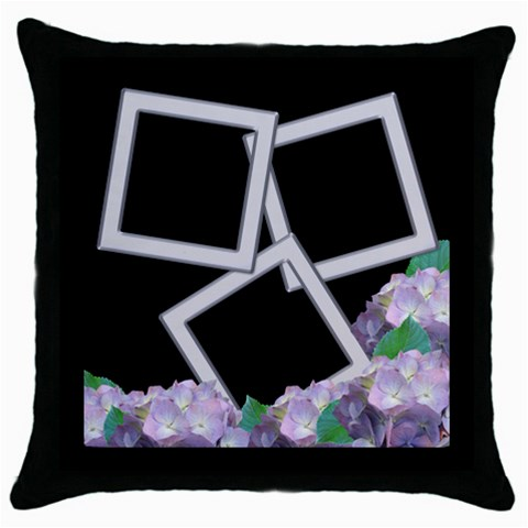 Silver And Lilac Throw Pillow By Deborah   Throw Pillow Case (black)   Fg2z49rg4wjz   Www Artscow Com Front