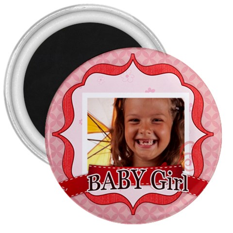 Baby Girl By Joely   3  Magnet   Mi1xcayni0bw   Www Artscow Com Front