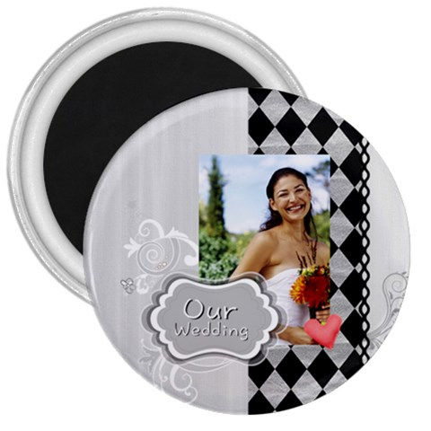 Wedding By Joely   3  Magnet   Y5wf06gabd5d   Www Artscow Com Front