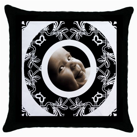 Oreo Cookie Throw Pillow By Catvinnat   Throw Pillow Case (black)   Wzejow99do3s   Www Artscow Com Front