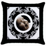 Oreo Cookie Throw Pillow - Throw Pillow Case (Black)