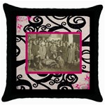 Past Times Throw Pillow - Throw Pillow Case (Black)