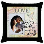 All We Need Is Love Throw Pillow Case - Throw Pillow Case (Black)