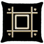 Black and Gold 2 throw pillow - Throw Pillow Case (Black)
