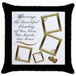 Marriage Thow Pillow - Throw Pillow Case (Black)
