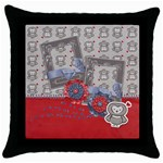 Owl Love, Throw Pillow Case (Black)