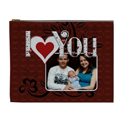 I Love You Always Xl Cosmetic Bag By Lil    Cosmetic Bag (xl)   P03lhc3nox92   Www Artscow Com Front