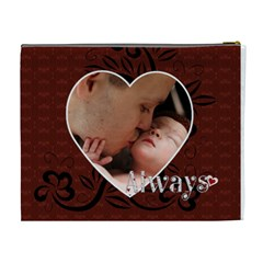I Love You Always Xl Cosmetic Bag By Lil    Cosmetic Bag (xl)   P03lhc3nox92   Www Artscow Com Back