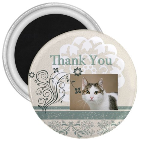 Thank You By Joely   3  Magnet   Rekcr5r0ad06   Www Artscow Com Front