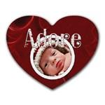 Adore Heart Shaped Mousepad - Heart Mousepad