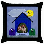 Doggie Throw Pillow - Throw Pillow Case (Black)