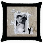 Our Day Throw Pillow Case - Throw Pillow Case (Black)