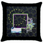 A Space Story Throw Pillow 1 - Throw Pillow Case (Black)