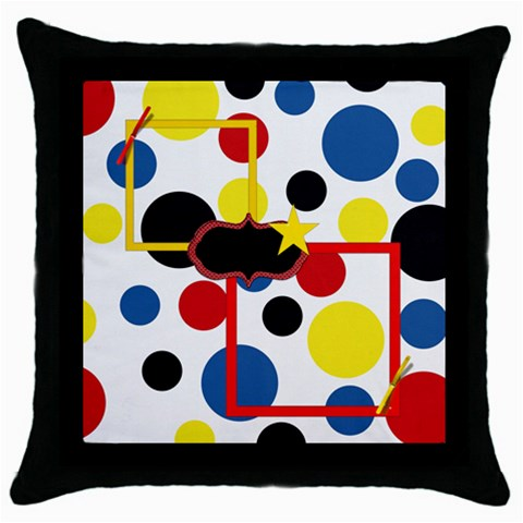 The Big Cheese Throw Pillow 1 By Lisa Minor   Throw Pillow Case (black)   Mxug4psivu6q   Www Artscow Com Front
