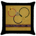 Gypsy Fall Throw Pillow 1 - Throw Pillow Case (Black)