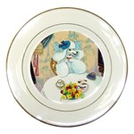 Poodle Cupcake Tea Party Porcelain Plate